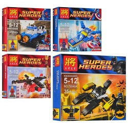 Супергерои и их транспорт (4 вида)