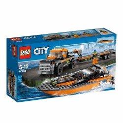 Внедорожник 4x4 с гоночным катером (Lego 60085)